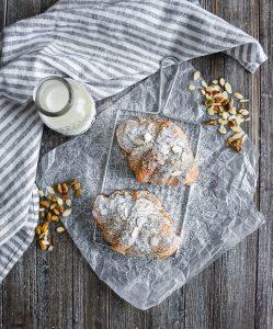 Pistachio Almond Croissants overhead
