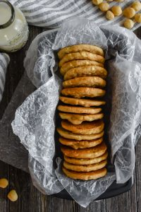 Tahini White Chocolate Macadamia Nut Cookies