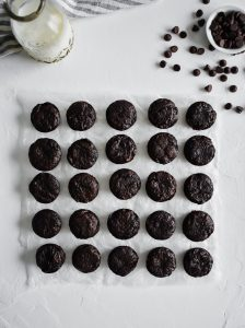 Brownie Bites in a large square
