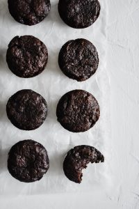 Brownie Bites lined up