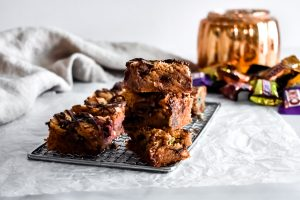 Candy Blondies stacked