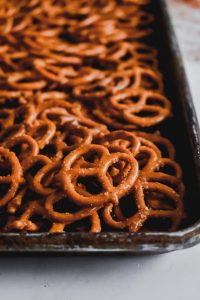 Seriously Spicy Pretzels close up