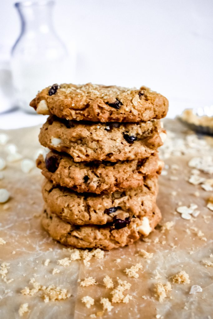 a stack of Easy Craisin Oatmeal Cookies