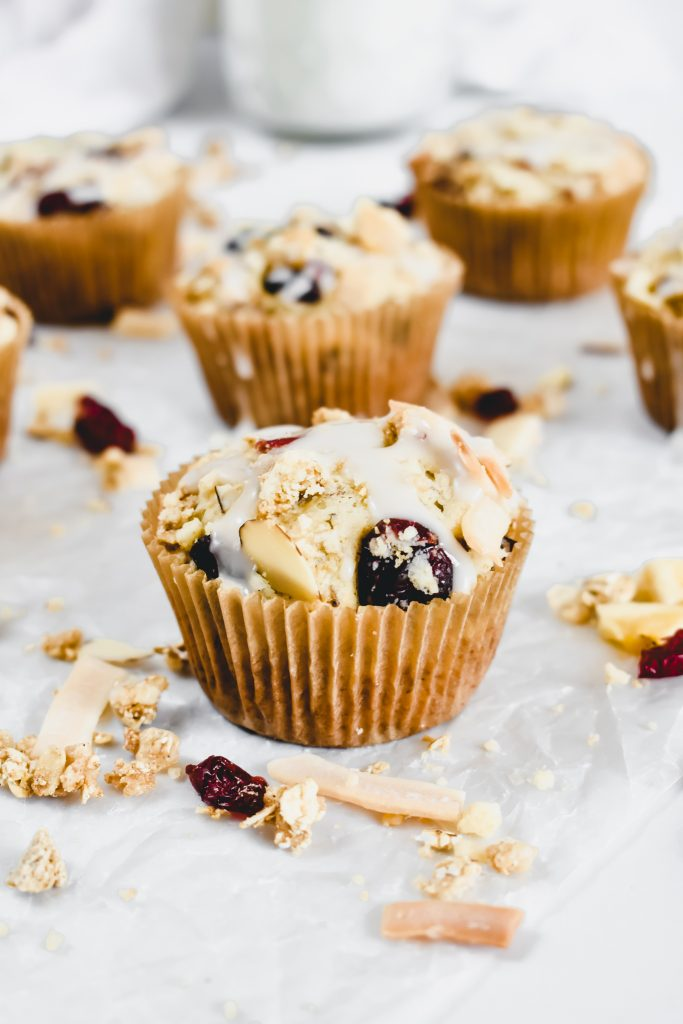Easy Banana Muffins with Granola Crumble single muffin
