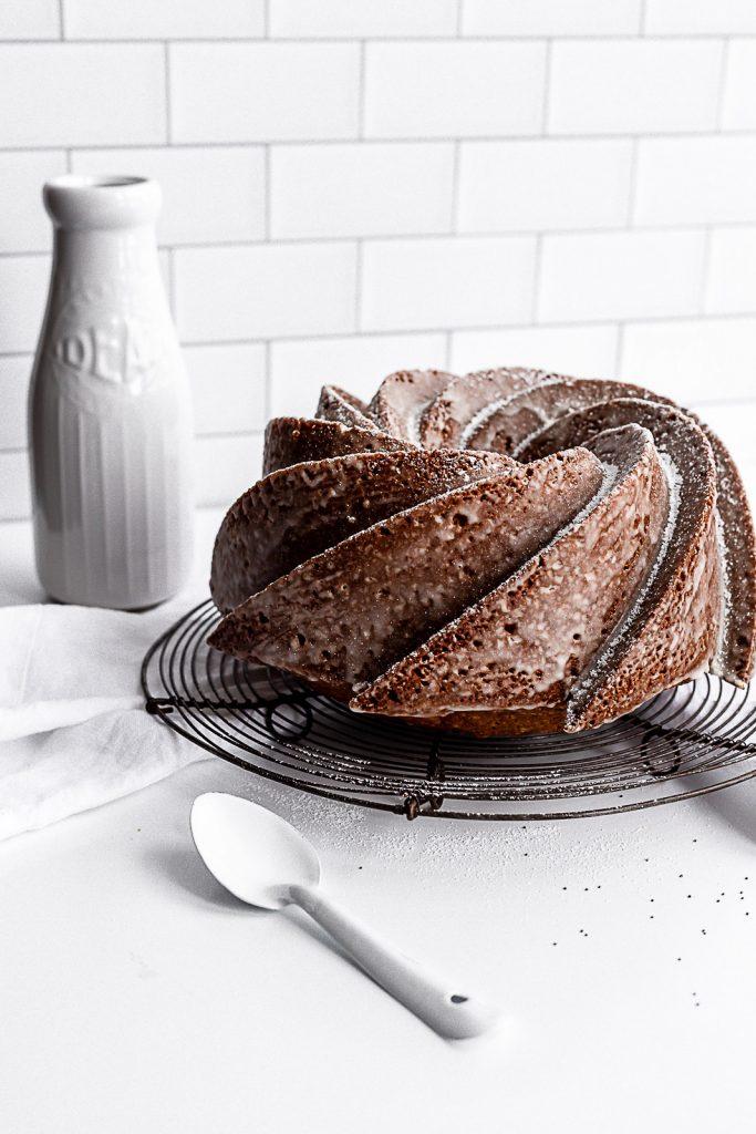 Almond Poppy Seed Cake uncut